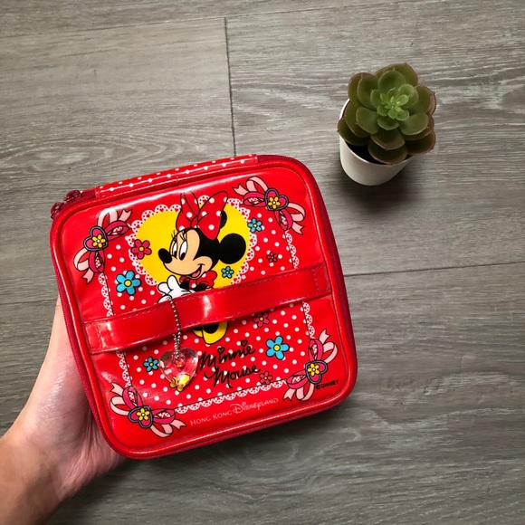 red minnie mouse lunch box set